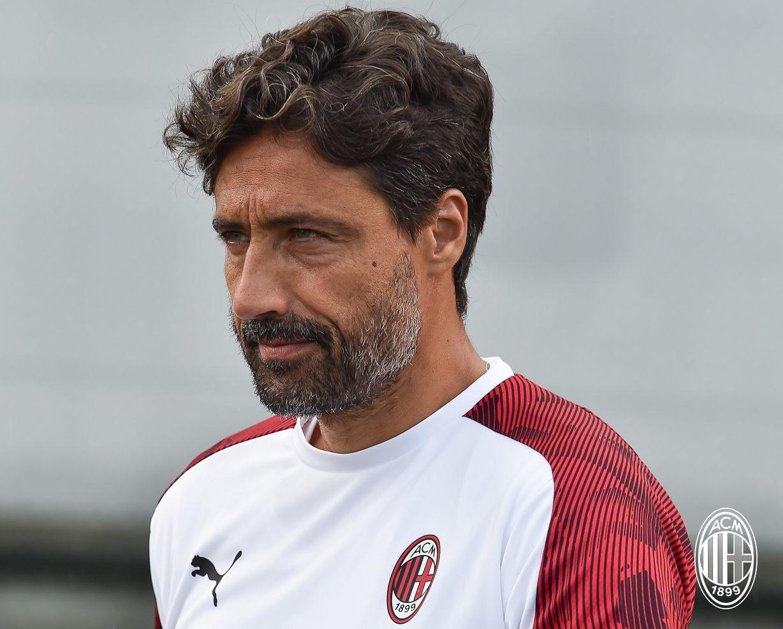Milan Primavera coach Federico Giunti
