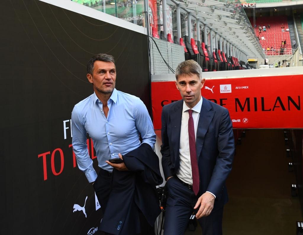 AC Milan directors Paolo Maldini and Frederic Massara